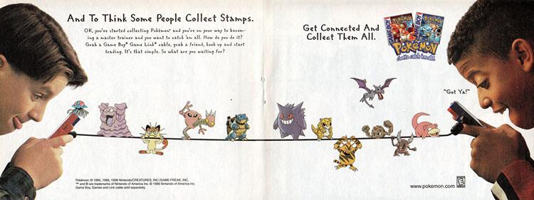 Uno de los anuncios originales para el juego.