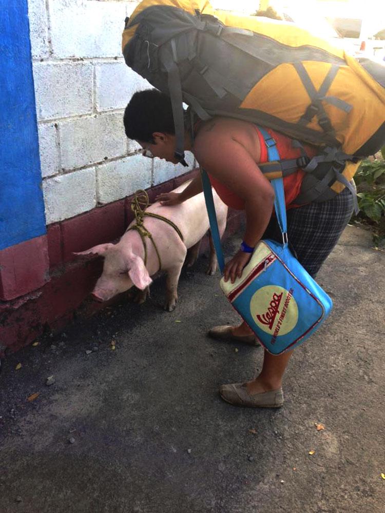 Jimena con cerdo