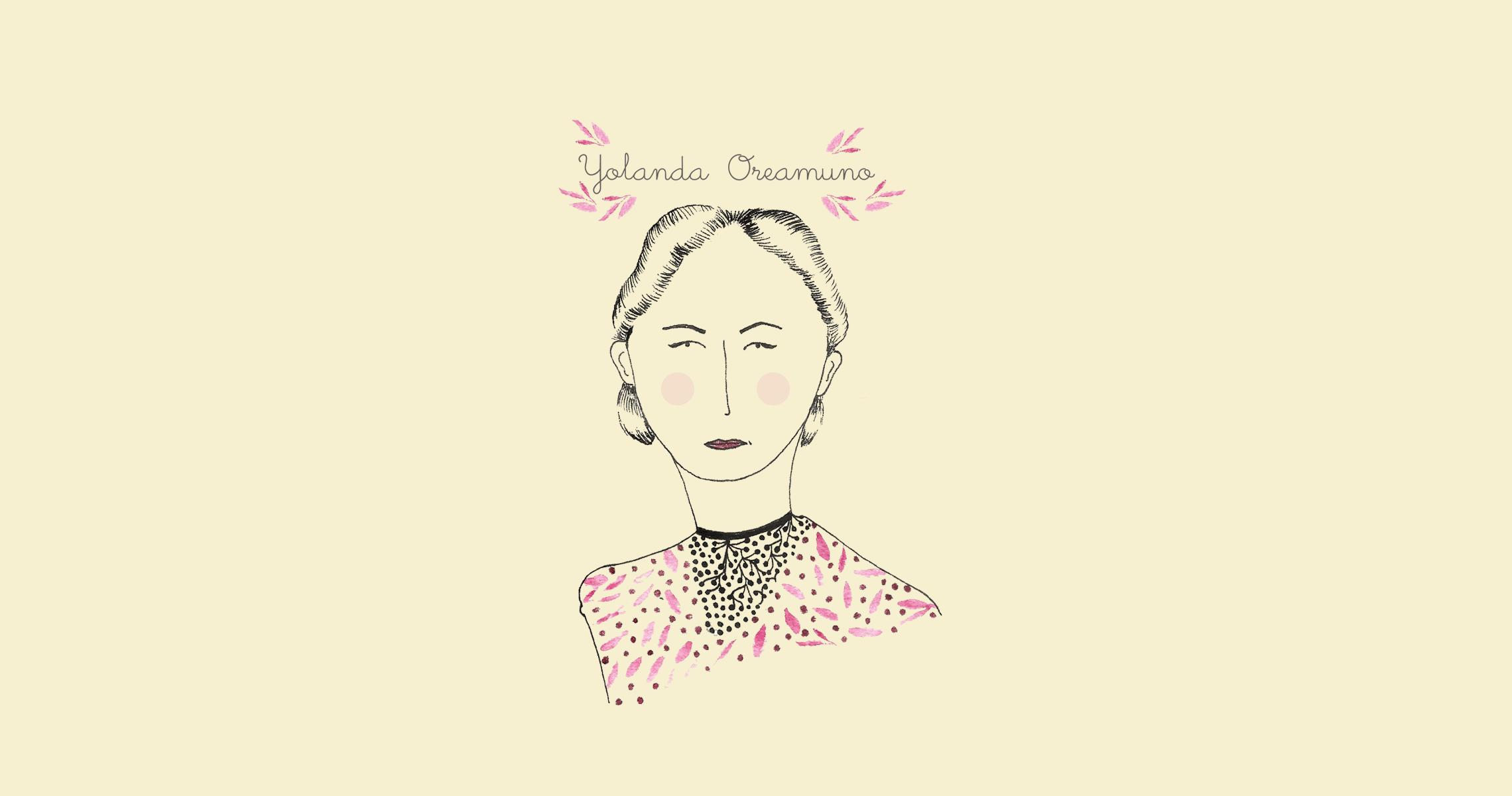 Ilustración de Yolanda Oreamuno por Alejandra Montero
