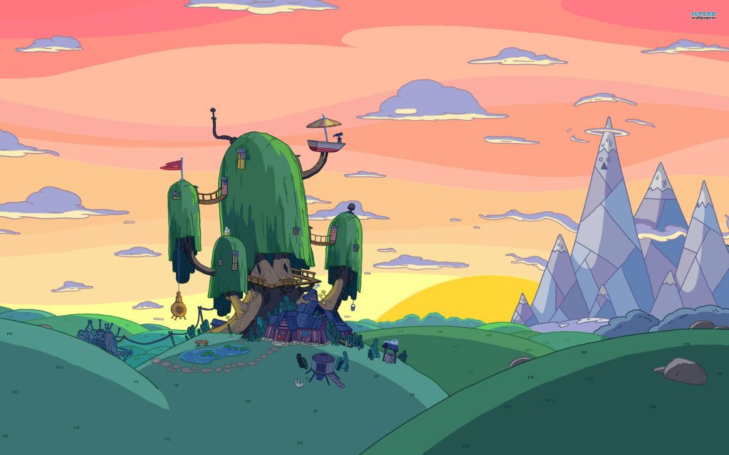 Paisaje de serie Adventure Time