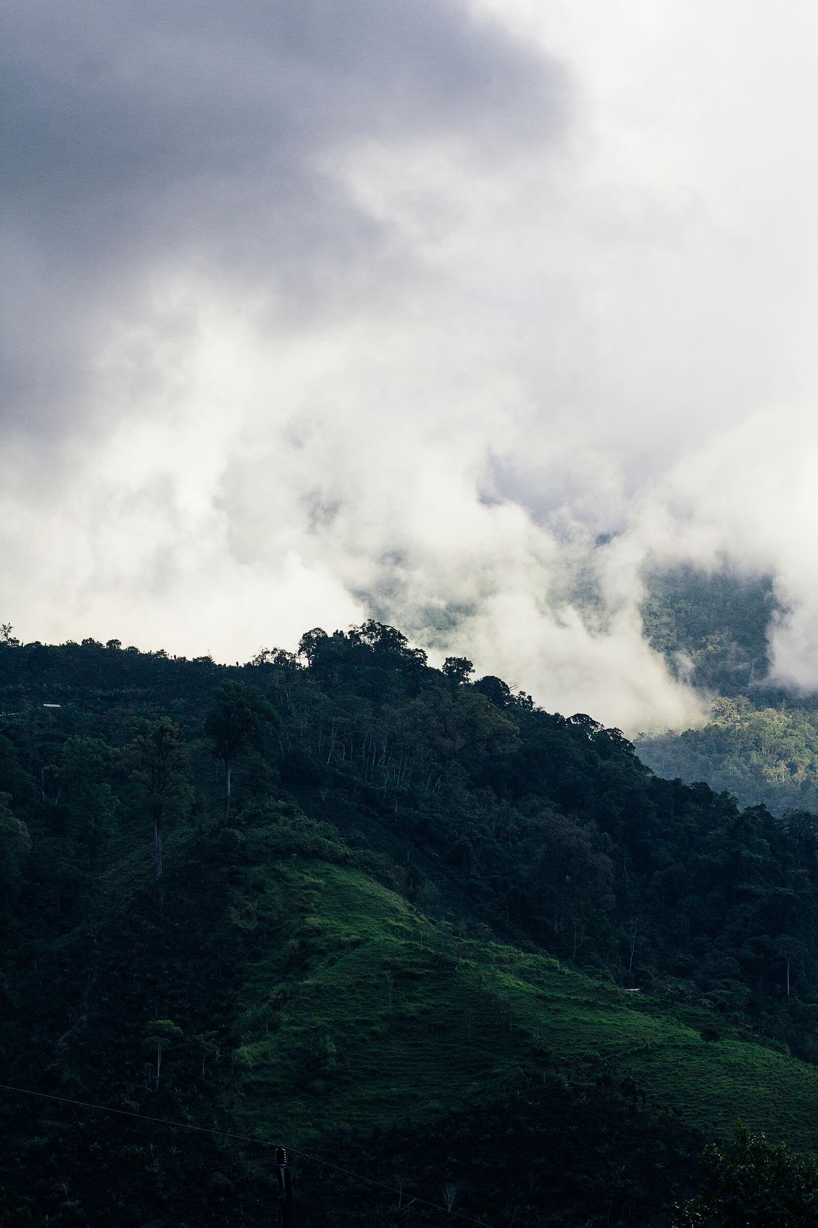 Zona de San Pedro de Rivas de Pérez Zeledón. Costa Rica.