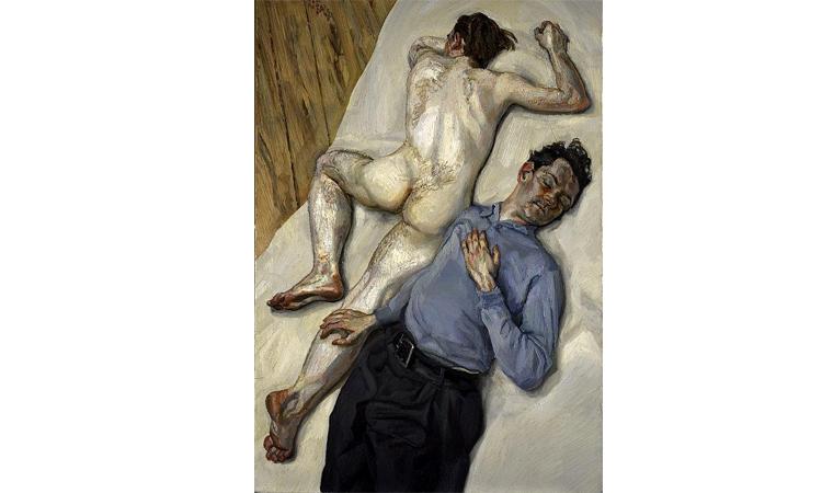 """Una historia para no contar. """"Dos hombres"""" de Lucian Freud."""
