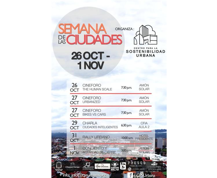 Afiche Semana de las Ciudades 2015